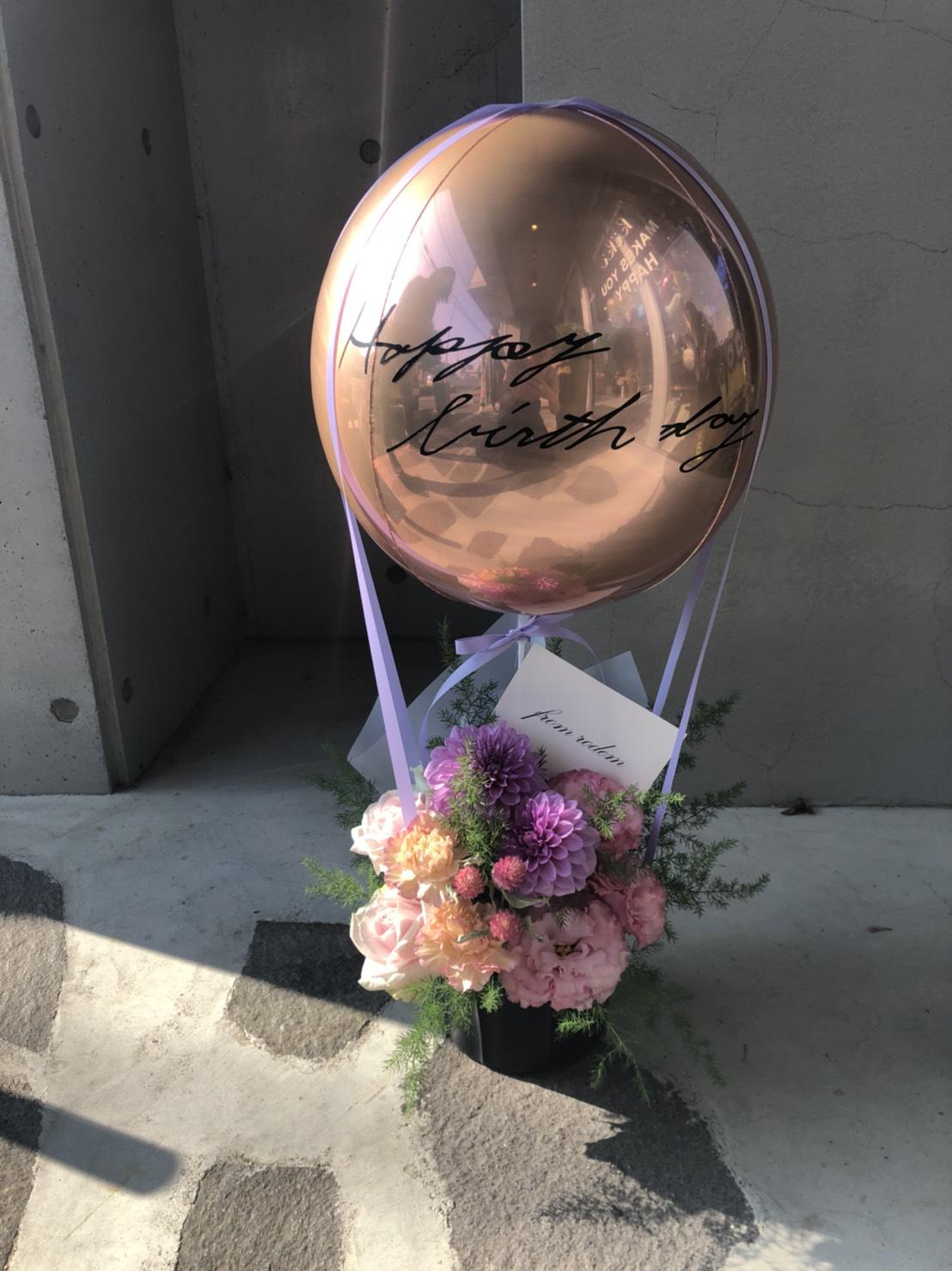 【AR-801】気球バルーン&生花アレンジ