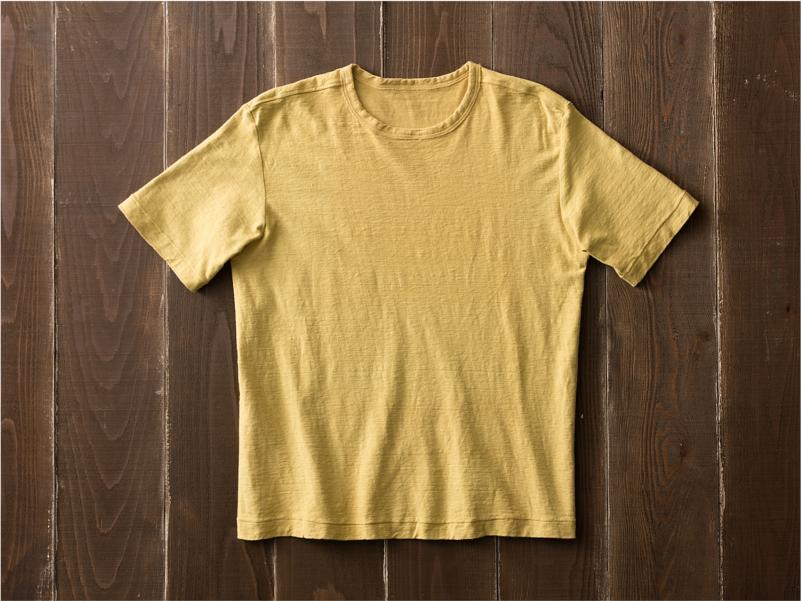 草木染めオーガニック吊り編みTシャツ半袖
