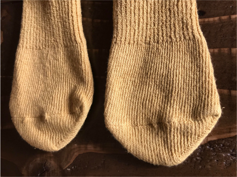 草木染めオーガニック柿渋わた染めショートソックス靴下