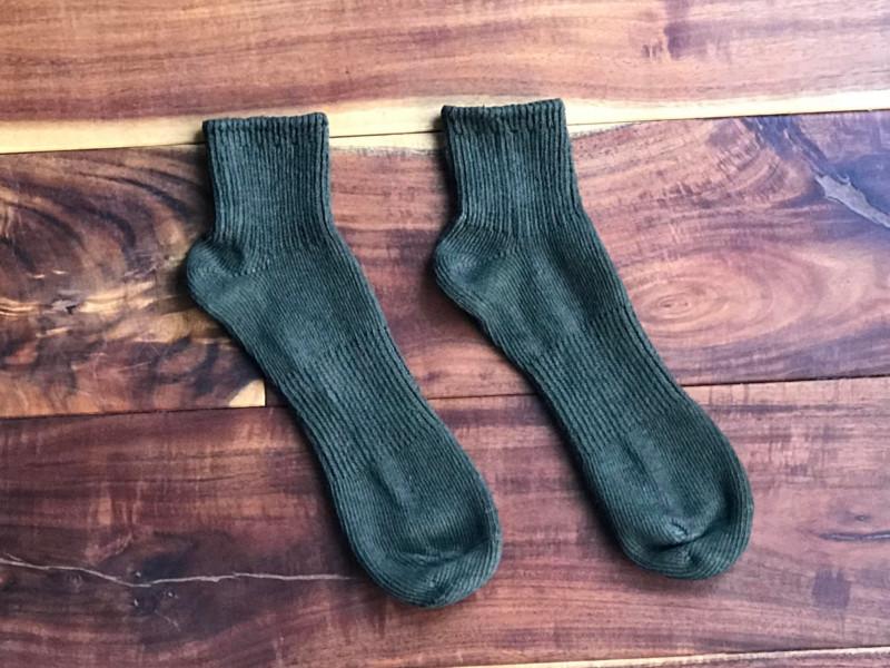 草木染めオーガニック柿渋わた染めアンクルソックス靴下