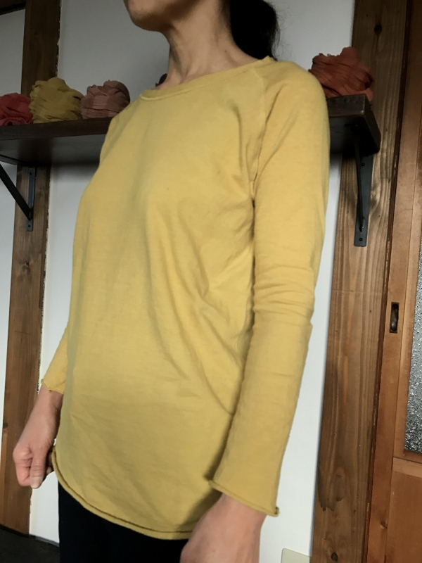 草木染めオーガニック吊り編みラグランカットソー