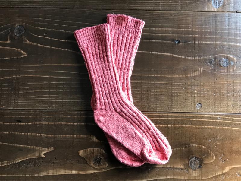 草木染めオーガニックコットンガラ紡ショートソックス靴下