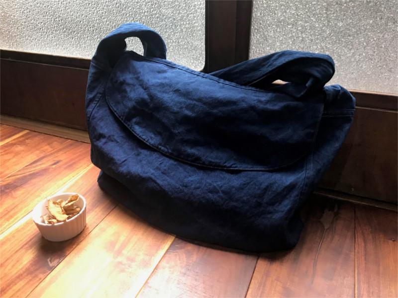 草木染めニュースペーパーバッグ HAITATSU   ハイタツ