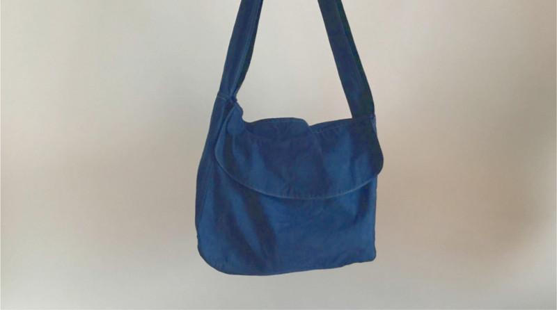 藍染めニュースペーパーバッグ HAITATSU   ハイタツ