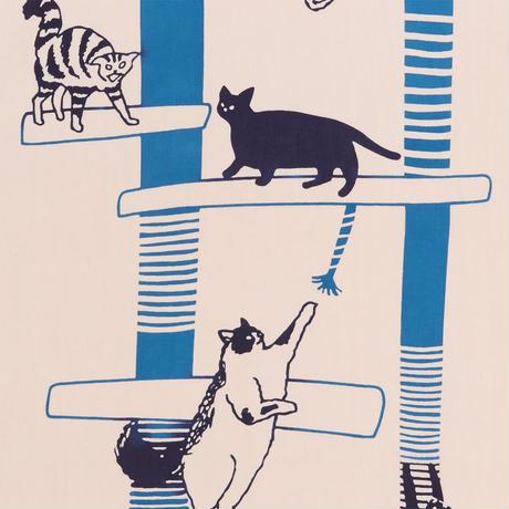 にじゆら 注染手ぬぐい CAT TOWER