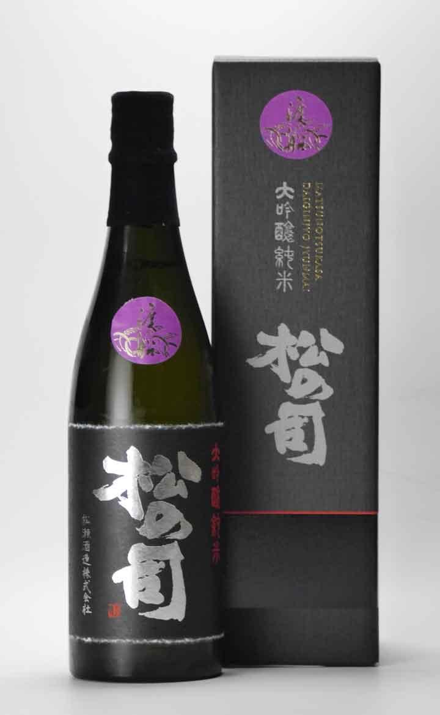 松の司 黒 純米大吟醸 渡船40 720ml 松瀬酒造