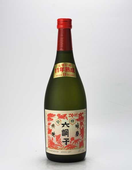 長熟 特吟 六調子 米25% (赤ラベル) 720ml 六調子酒造