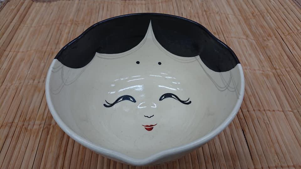 抹茶碗 「おかめちゃん」