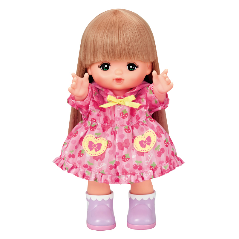 メルちゃん ピンクのレインコートセット