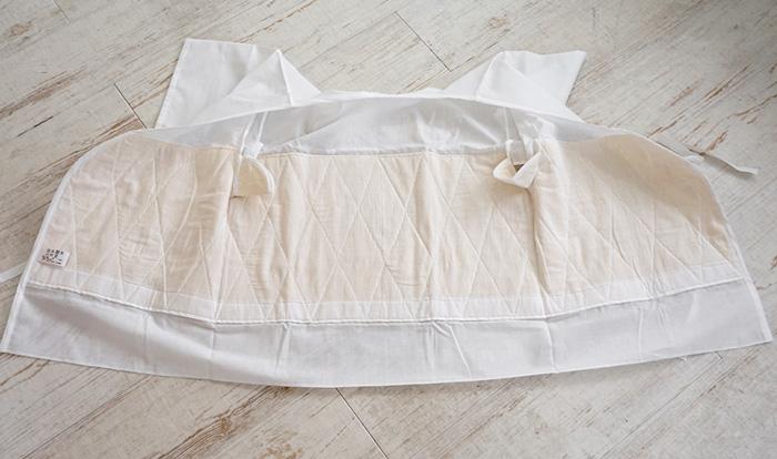 あしべ織 肌襦袢 燈芯 汗取り襦袢 LLサイズ 日本製>