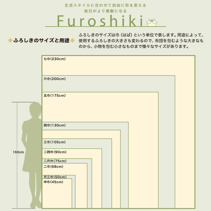 中巾 45cm 風呂敷 無地 有職 色がきれいな ちりめん 全12色 日本製>