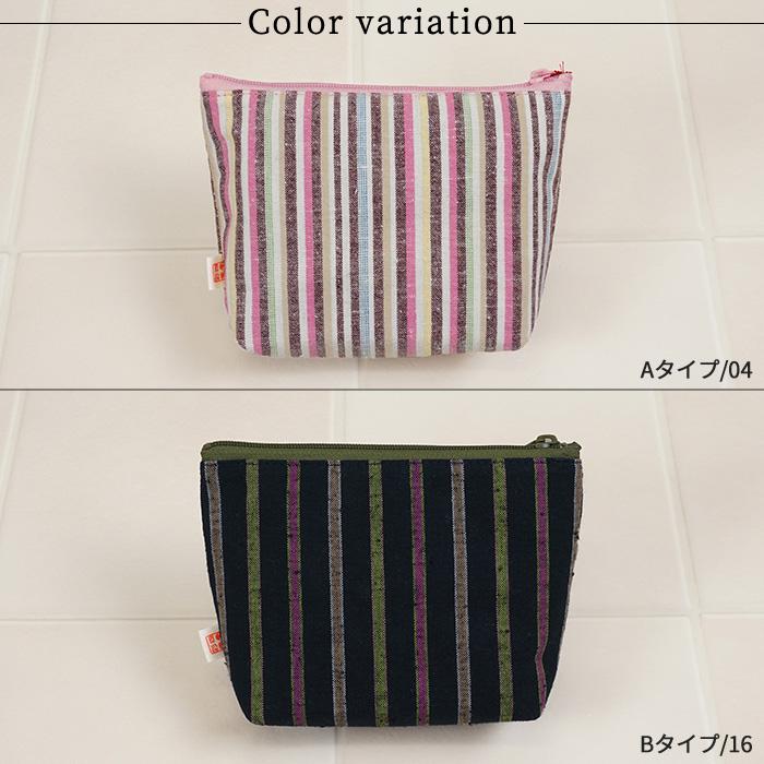 ポーチ かわいい ポーチ ブレスポーチ 遠州綿紬 S23-011 全8種類 日本製>