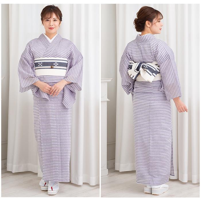 浴衣 大人 木綿 着物 仕立て上がり 阿波しじら織 透かし織 全3色 日本製 17>