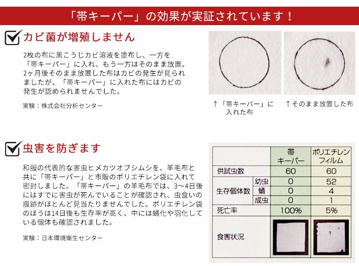 帯 キーパー 1枚 タンス 収納 サイズ 防カビ 防虫 防湿 防水 防酸素>