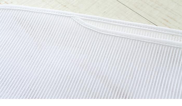 帯板 メッシュ あづま姿 前板 小 サイズ 39×12 白 日本製>