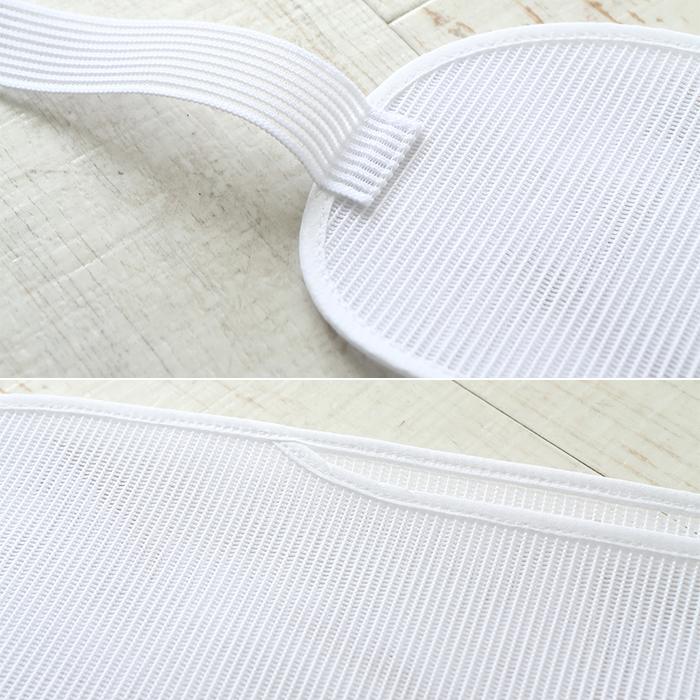 帯板 メッシュ あづま姿 前板 ベルト付き 中 サイズ 45×13 白 日本製>