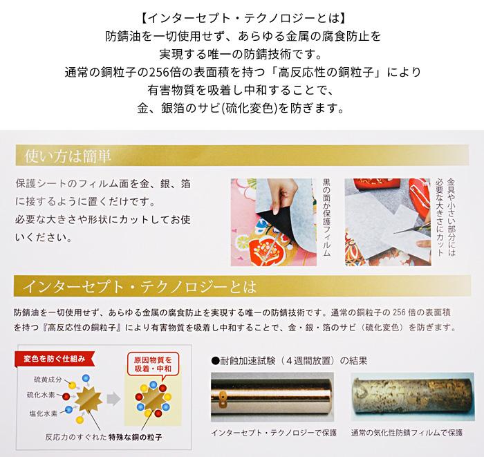 着物 袋帯 名古屋帯 箔焼け防止 保護シート 選べる2サイズ 日本製>