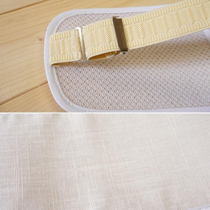 涼感 軽くて 涼しい へちま 帯板 大 ベルト付き 長尺 49×13.5 麻>