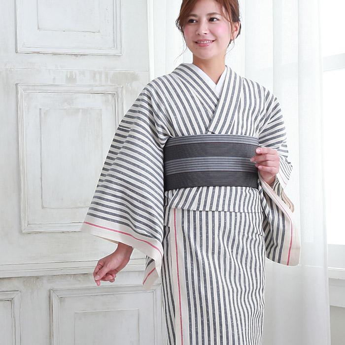 木綿 着物 仕立て上がり 遠州綿紬 4柄 日本製 遠州縞 プレタ 153>