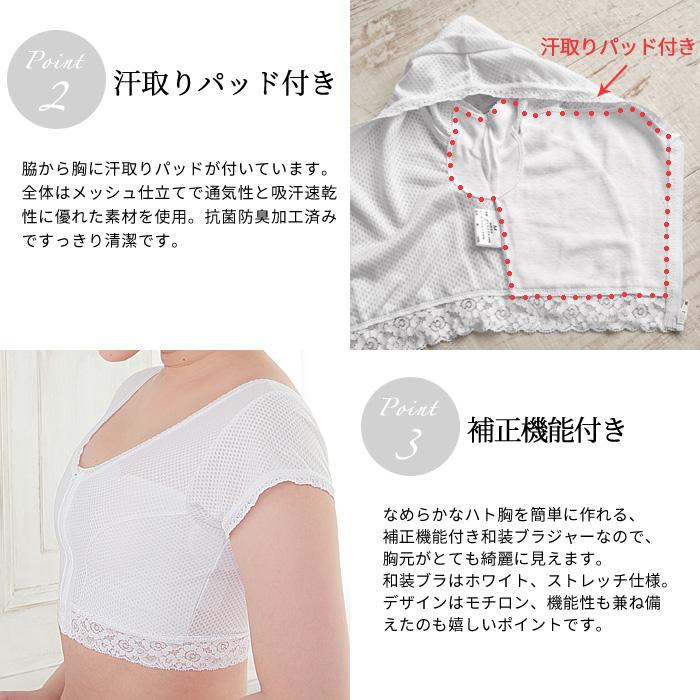 メッシュ 和装ブラ 夏用 東レ フィールドセンサー 日本製 M L EL>