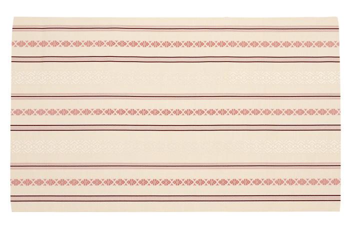 博多織 名古屋帯 仕立て上がり 正絹 生成色 献上柄 五献上 森博多織>