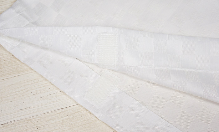 替袖 ワンタッチ 夏 紗 市松 白色 替え袖 別売のうそつき襦袢専用>
