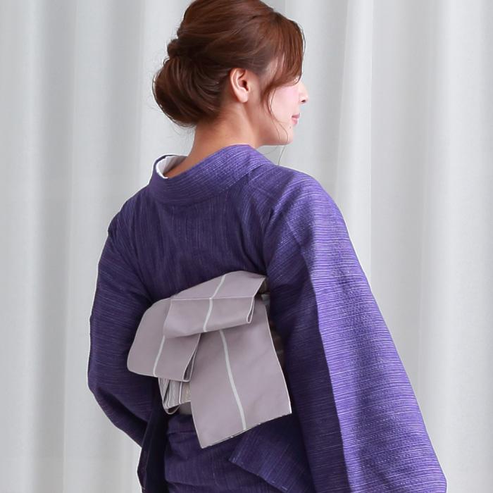 木綿 着物 仕立て上がり 阿波しじら織 選べる4柄 プレタ 46 日本製>