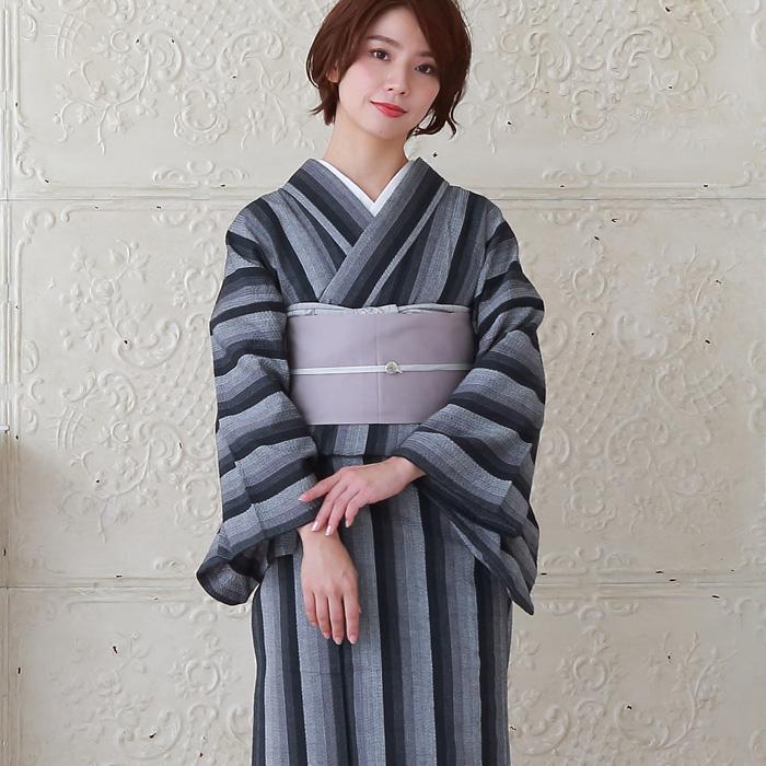 木綿 着物 仕立て上がり 阿波しじら織 選べる4柄 プレタ 25 日本製>