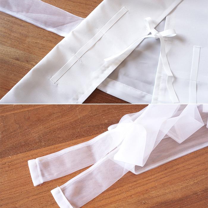 着物 仕立て衿 あづま姿 2style 通年 仕立衿 日本製 白色 ポリエステル>