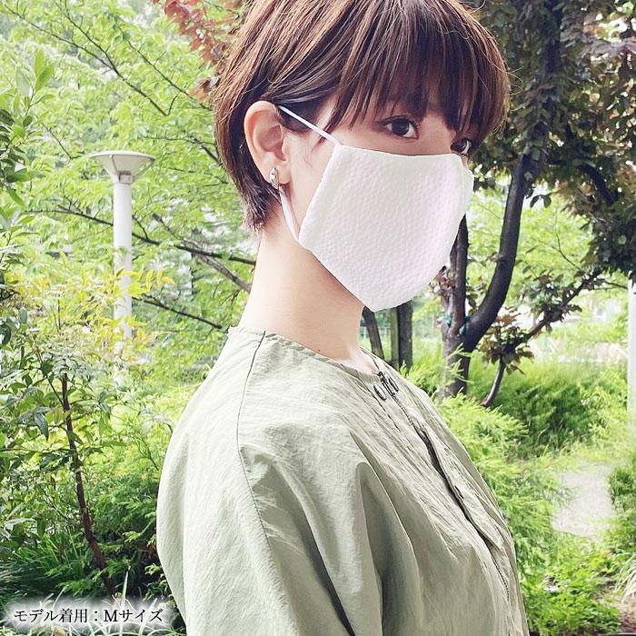 着物 マスク 洗える 秋冬 藍染 阿波しじら織 クレンゼ 立体型 日本製>