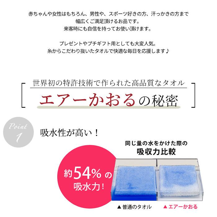 タオル 今治 日本製 エアーかおる ウォッシュ ダディボーイ 2枚 全5色>