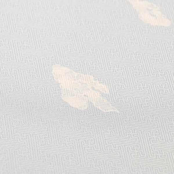 きものSalon掲載【大黒屋特選】小紋 (水色、鞘型地紋、吉野雲)袷仕立上税込 単衣可 送料無料
