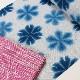 【藤井絞り】雪花絞り 浴衣 (白地に藍絞り・備長炭繊維使用)送料無料 仕立上税込価格