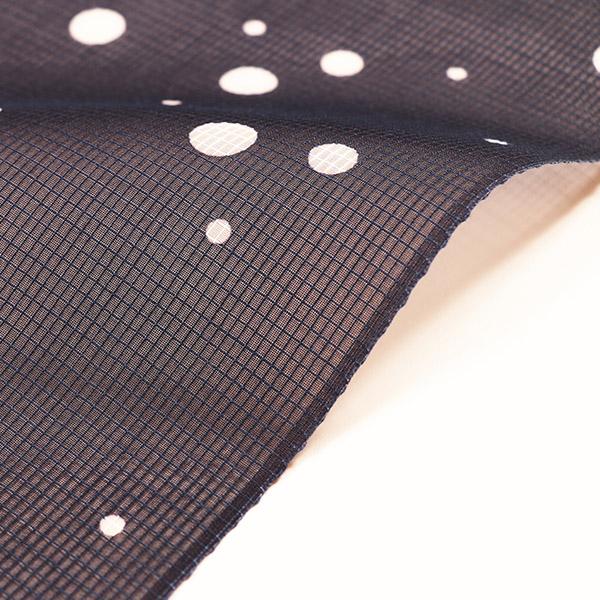 【竺仙】絹紅梅 浴衣(紺地・大小霰)送料無料 仕立上税込価格  売切れ。