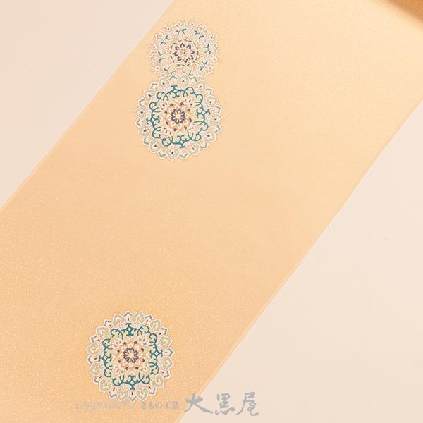 【大黒屋特選】付下(手描友禅 華紋ちらし、クリーム) 袷仕立税込 送料無料