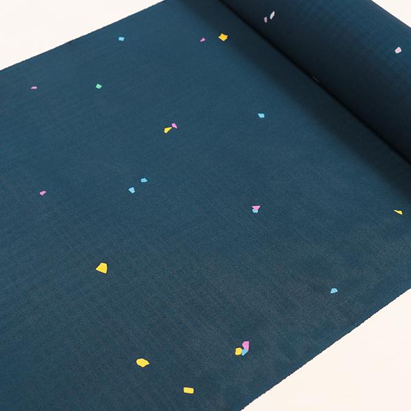 【大黒屋特選】夏小紋 (紺・まき糊)単衣仕立税込 送料無料 夏のコートや羽織にも最適!