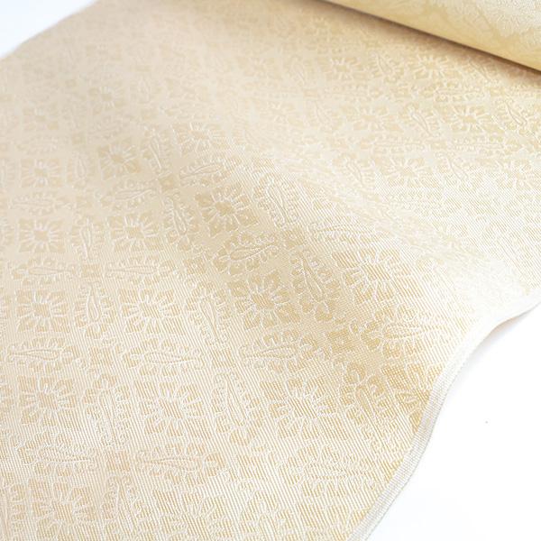 【北尾織物】九寸名古屋帯(薄玉子、斜立て枠)名古屋仕立て 送料無料
