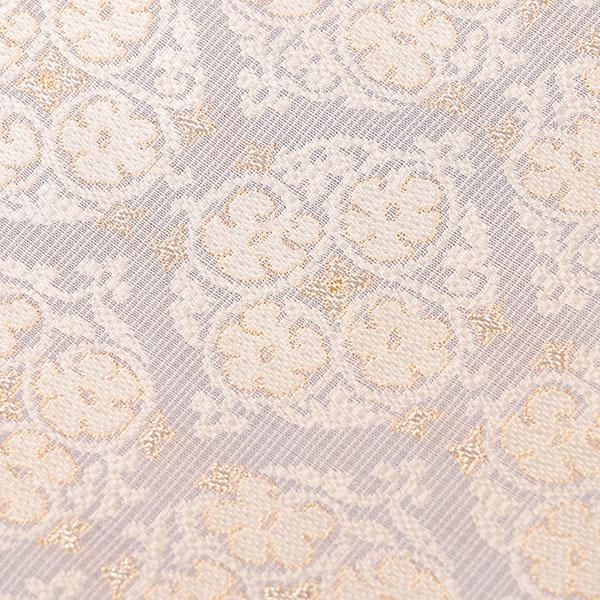 【織楽浅野】夏 織なごや帯 (ブルーグレー,アラベスク樹文)6〜9月の単衣薄物に 送料無料