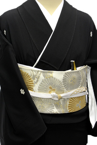 正絹黒留袖レンタルフルセット「流水に松・梅」