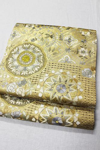 最高級袋帯「蘇州汕頭刺繍 唐花華紋」
