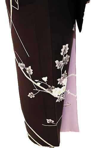 正絹訪問着 レンタルフルセット「手描友禅 枝花」