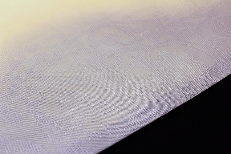 西陣織京都イシハラ謹製 夏物袋帯「縦ぼかしに唐花」