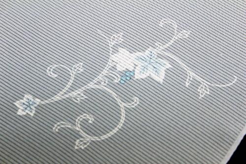 正絹の夏物駒絽小紋「葡萄唐草に蛍ぼかし」
