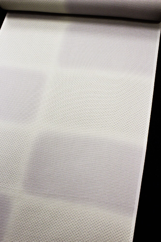 正絹の夏物駒絽小紋「市松に鹿の子」
