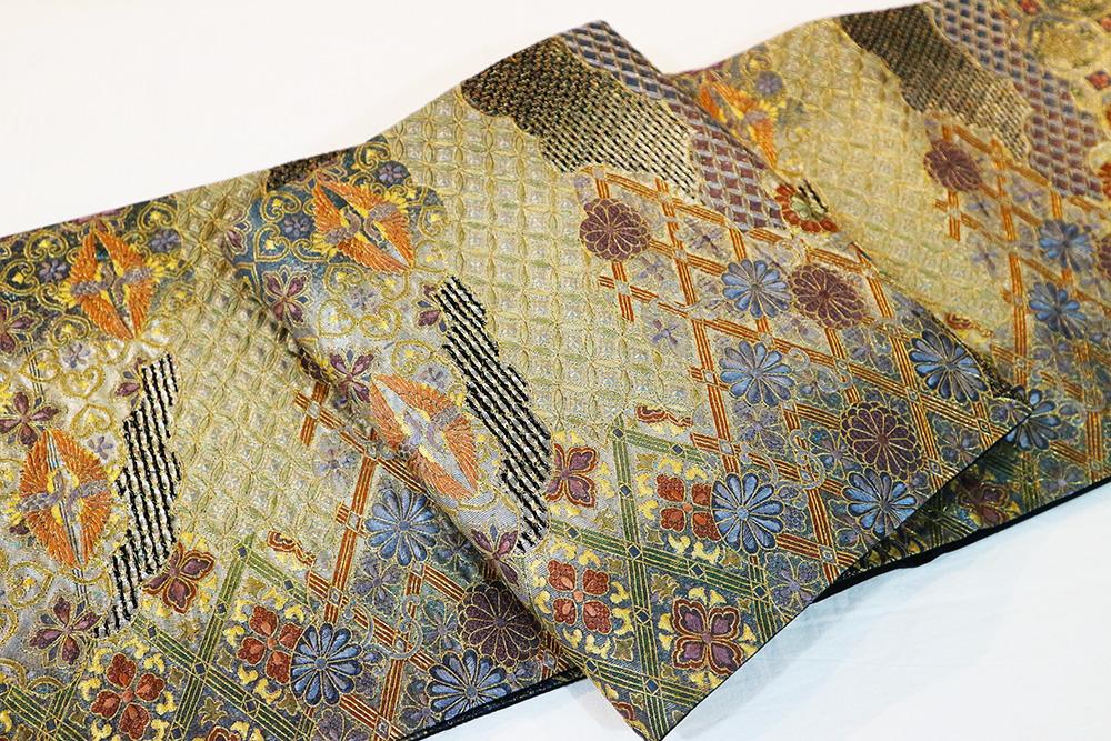 ※厳選仕立上がり商品 最高級袋帯「汕頭刺繍 七宝に鳳凰華紋」