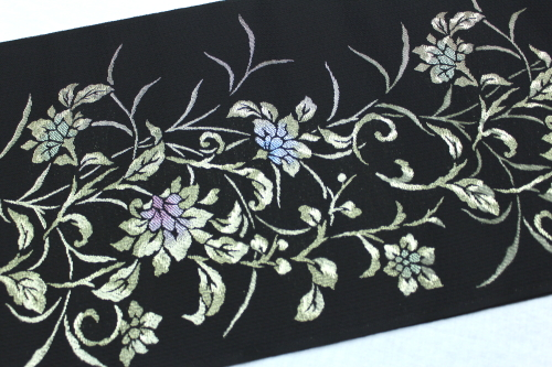 西陣織澤本織物謹製 夏物紗名古屋帯「唐花」