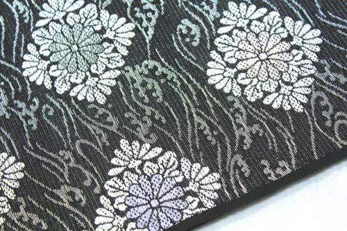 西陣織澤本織物謹製 夏物紗名古屋帯「波に菱菊紋」