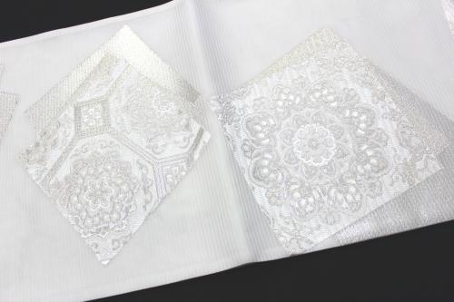 西陣織橋本清謹製 夏物袋帯「式紙に華紋」