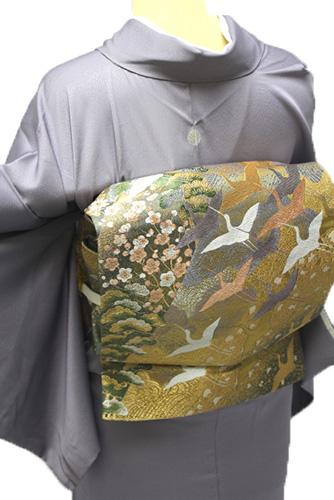 正絹色留袖レンタルフルセット「松 刺繍」