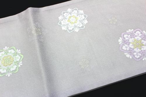 西陣織京都イシハラ謹製 夏物絽袋帯「華紋飛び柄」